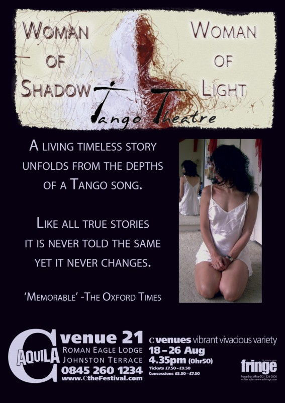 Tango Theatre: Woman of Shadow, Woman of Light